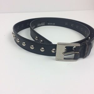 Black studded Genuine Leather Esprit Belt M